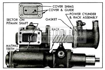 1955 Buick Position of Rack and Sector for Installation of Power Cylinder