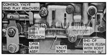 1955 Buick Position of Shift Control Valve-Drive Range