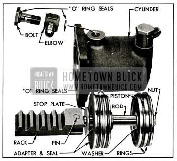 1955 Buick Power Cylinder and Rack Parts