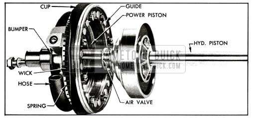 1955 Buick Power Piston With Air Valve and Hydraulic Piston Assembly