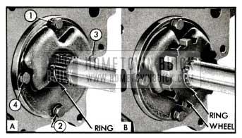 1955 Buick Pump Bolt Tightening Sequence-lnstallation of Ratchet Wheel