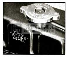 1955 Buick Radiator Filling Level-Cold
