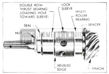 1955 Buick Rear Axle - Exploded View