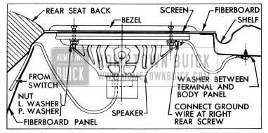 1955 Buick Rear Seat Speaker Installation