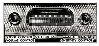 1955 Buick Receiver Controls-Selectronic Radio