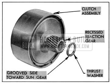 1955 Buick Recessed Reaction Gear and New Thrust Washer