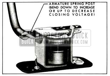 1955 Buick Relay Closing Voltage Adjustment