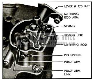 1955 Buick Removal of Metering Rods and Operating Parts