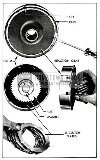 1955 Buick Removal of Reaction Gear, Hub, and Plates