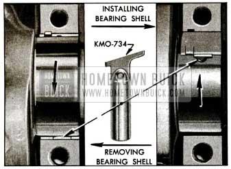 1955 Buick Removing and Installing Crankshaft Bearing Upper Shell