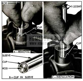 1955 Buick Removing and Installing Retainer Clip