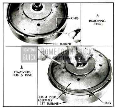 1955 Buick Removing Disk and Hub Assembly