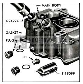 1955 Buick Removing Plug and Main Metering Jet