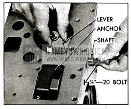 1955 Buick Removing Reverse Band Operating Lever and Shaft