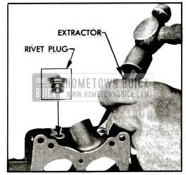 1955 Buick Removing Rivet Plug