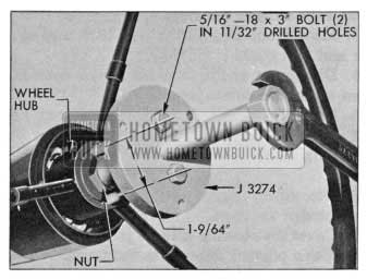 1955 Buick Removing Steering Wheel with Puller J-3274