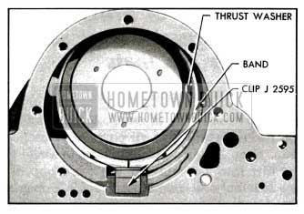 1955 Buick Ring Gear Thrust Washer and Reverse Band Installed