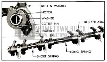 1955 Buick Rocker Arm and Shaft Assembly