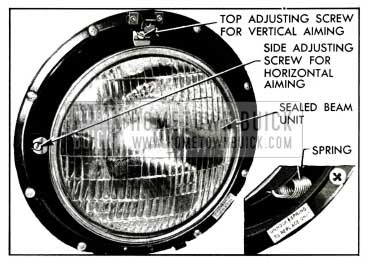 1955 Buick Sealed Beam Unit Mounting