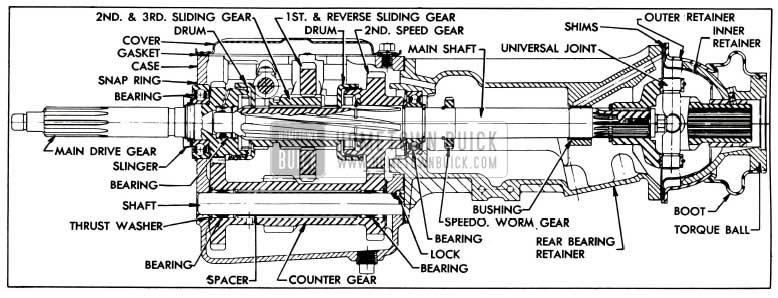 1955 Buick Series 40 Synchromesh Transmission