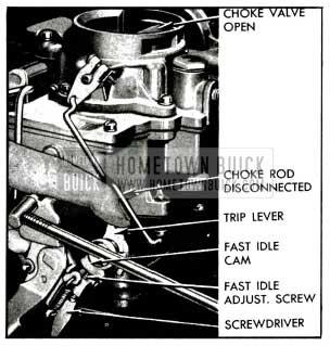 1955 Buick Setting Carter Fast Idle-Carburetor on Engine