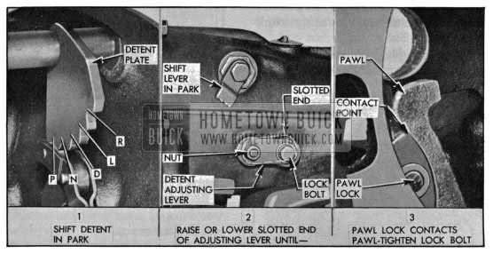 1955 Buick Shift Detent Adjustment