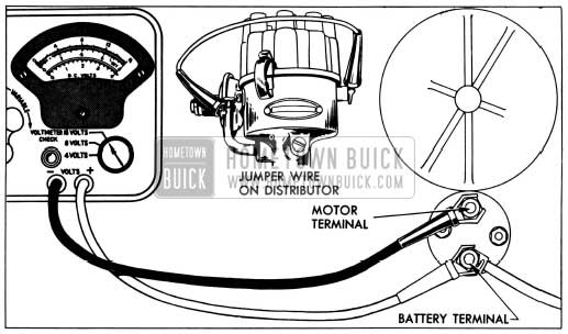 1955 Buick Solenoid Switch Contact Test Connections