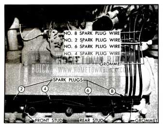 1955 Buick Spark Plug Wires-Left Bank