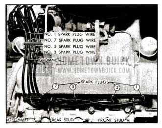 1955 Buick Spark Plug Wires-Right Bank