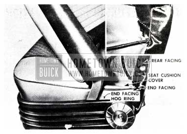 1955 Buick Split Seam on Seat Trim