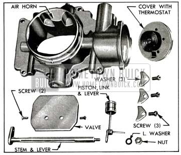 1955 Buick Stromberg Choke Control Parts