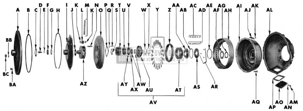 1955 Buick Torque Converter-Exploded View