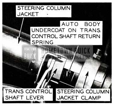 1955 Buick Transmission Control Shaft