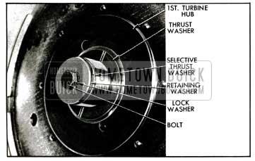 1955 Buick Turbine Retaining Washer and Thrust Washer