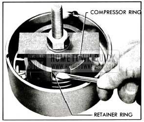 1955 Buick Using Clutch Spring Compressor J 2590