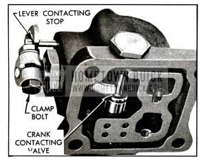 1955 Buick Valve Operating Lever Adjustment