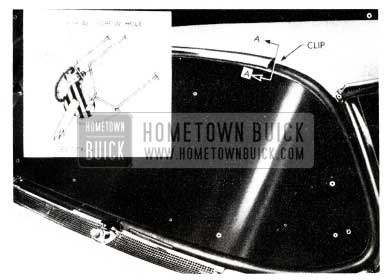 1955 Buick Windshield Upper Reveal Molding