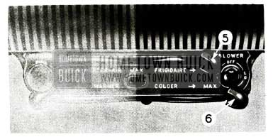 1956 Buick Air Conditioner Blower Controls