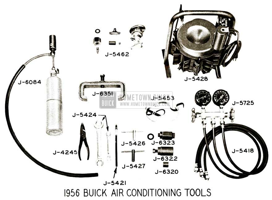 1956 Buick Air Conditioning Tools