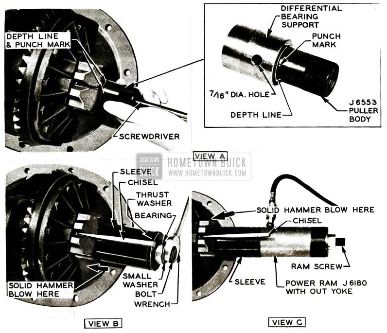 1956 Buick Bearing Support Installation
