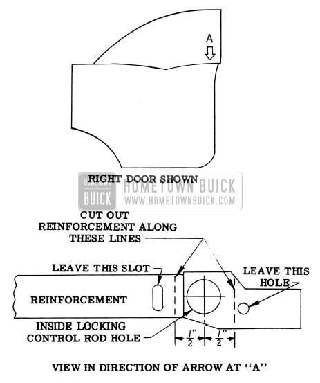 1956 Buick Binding Inside Locking Rod