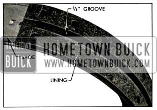 1956 Buick Brake Lining Showing Groove