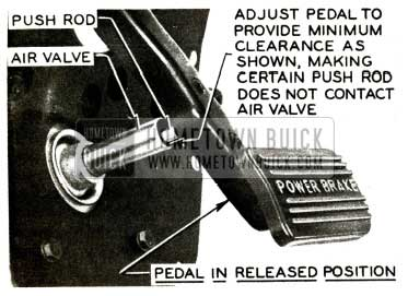 1956 Buick Brake Pedal in Released Position