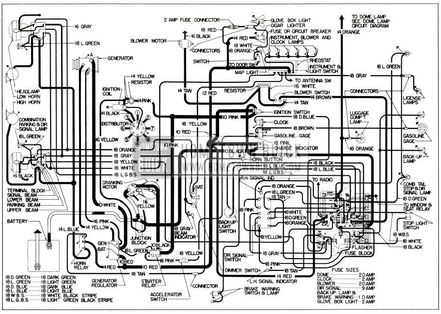 1956 Buick Chassis Wiring Diagram Synchromesh Transmission Rh Hometownbuick 2011 Lucerne Door Special: 1956 Oldsmobile Wiring Diagram At Mazhai.net