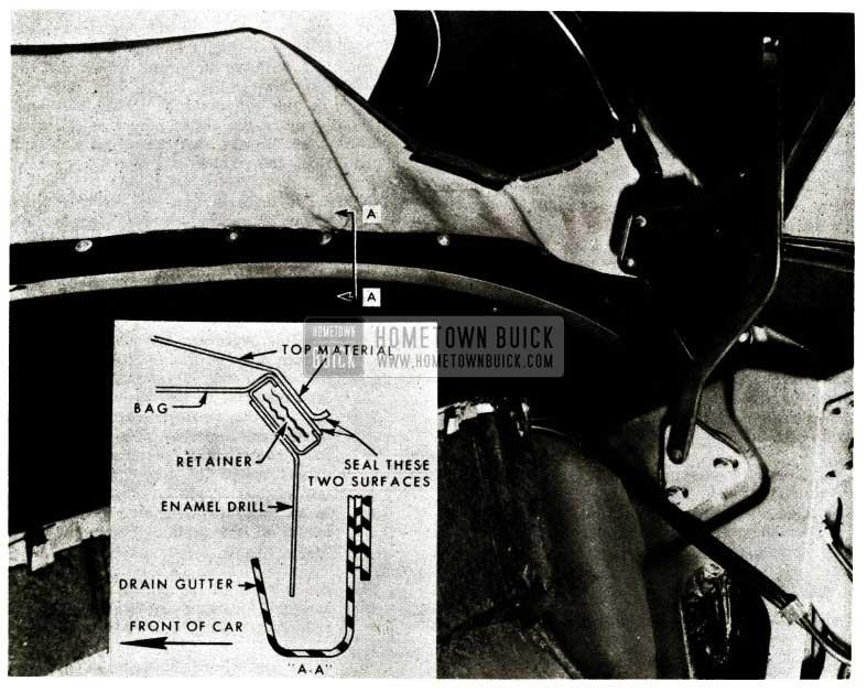 1956 Buick Convertible Folding Top Water Leak Repair