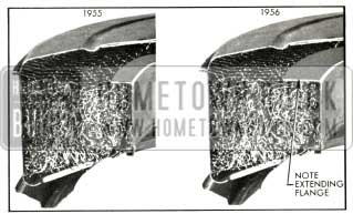 1956 Buick Cross Section Comparison of 1955 and 1956 Air Cleaners