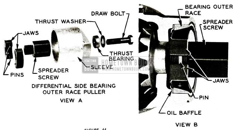 1956 Buick Differential Side Bearing Outer Race Puller