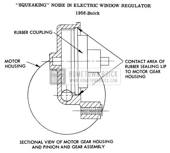 1956 Buick Electric Window Regulator Noise Repair