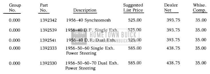 1956 Buick Engine Assemblies