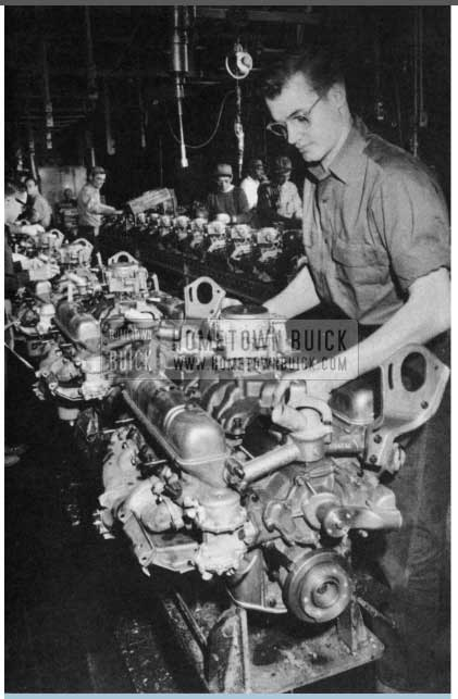1956 Buick Engine Final Assembly